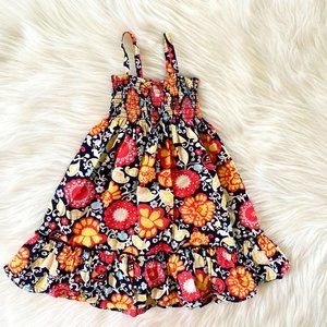 Hanna Andersson Smocked Navy Floral Sundress 4